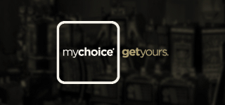 "mychoice logo with the words ""get yours"""